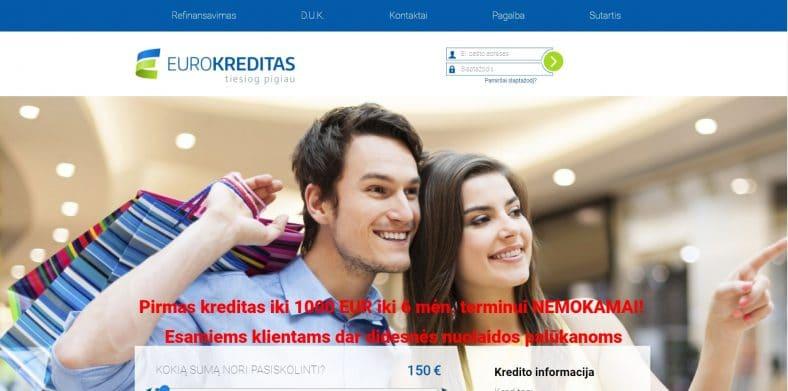 Eurokreditas.lt paskolos
