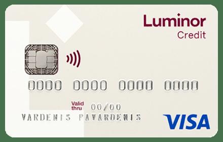 "Luminor ""Visa Classic"" kredito kortelė"