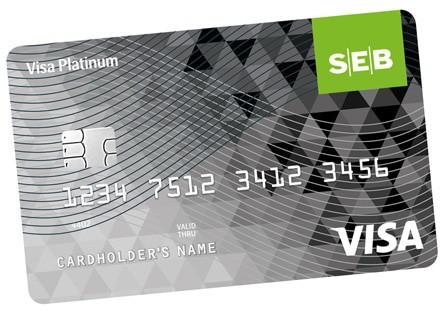 SEB Visa Platinum Kredito Kortelė