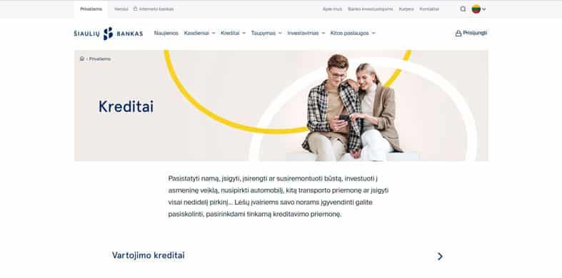 Šiaulių bankas paskolos apžvalga ir atsiliepimai